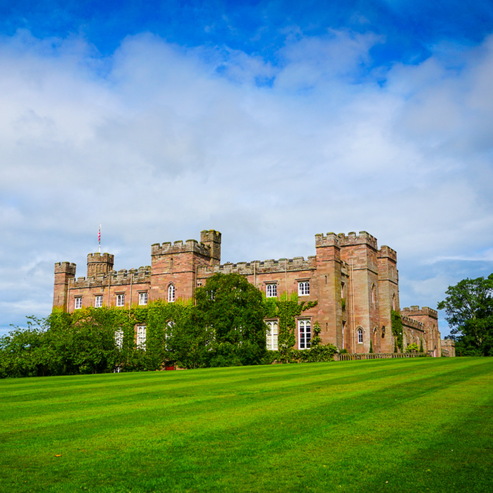 scone palace on a sunny day in scotland